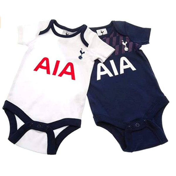 Official Tottenham Hotspur Fc Twin Pack Baby Grows Size 0 3 Months Yankee Bundles